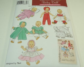 Simplicity  Archives Baby Doll Doll Clothes Pattern 4707 and is also retro pattern 3669
