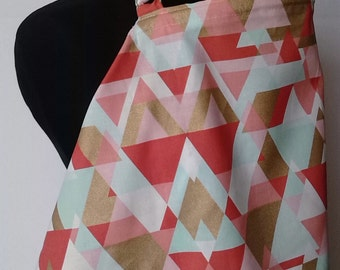 Nursing Cover, Breastfeeding Feeding Cover up, Nursing cover up, Peach and Gold Triangle