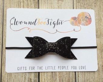 Glitter Bow Headband - you pick color!