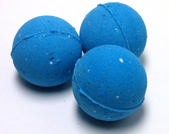 I'd Rather Be A Mermaid Giant Bath Bomb - Bright Blue Shea and Cocoa Butter - Sugar, Lemon, Cake Fragrance Blend