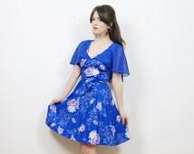 boho floral mini dress, 70s mini dress, floral mini dress, boho dress, hippie dress, festival dress, 70s boho dress, floral dress, summer