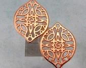 Filigree Drop, Rose Gold, 2 Pieces, RG27