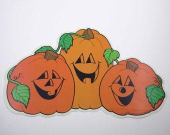 Vintage 1980s Cardboard Jack-O-Lantern or JOL Halloween Cardboard Die Cut Decoration by Frank Schaffer