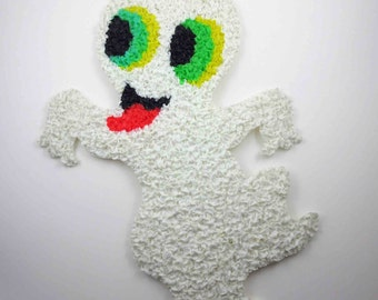 Vintage Melted Plastic Popcorn Ghost Halloween Decoration