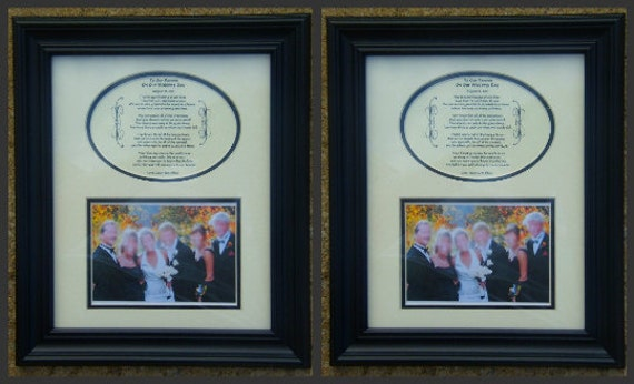 Wedding Favor Two To My Parents on My Wedding Day Personalzied Framed Gift  SAVE