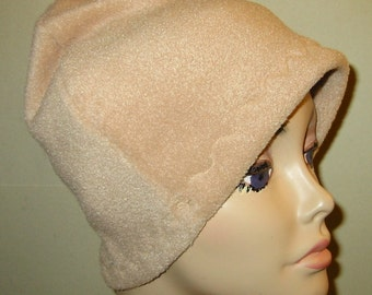 Camel Anti Pill Fleece Hat, Winter Hat, Cancer, Chemo Hat, Alopecia