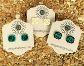 Monogrammed Earrings, Monogrammed Acrylic Sassy Shaped Earrings -- THREE Color Choices!!