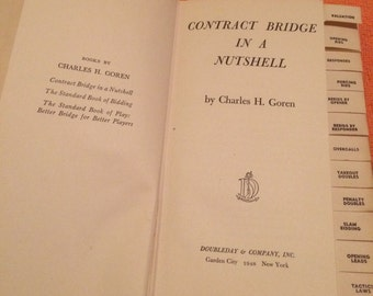 Contract Bridge in a Nutshell Book by Charles H. Goren 1947