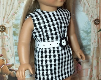 18 inch Doll Clothes Hounds-tooth Sheath with Beret Outfit by Nayasdesigns