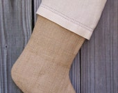 Burlap Stockings Tailored Plain Country French Farmhouse Chic Personalized  Guys Men 257
