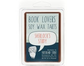 Sherlock's Study -- Book Lovers' Scented Soy Tart  -- 3oz pack