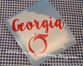 Georgia Peach Vinyl Decal
