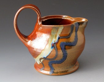 Ceramic Creamer with Desert Colors, Small Pitcher, Handmade Pouring Vessel, Gravy Jug, Creamers