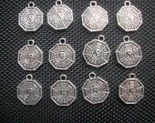 10 Yin Yang Hexagram I Ching Charms