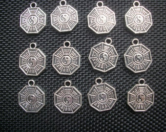 10 Yin Yang Hexagram I Ching Charms