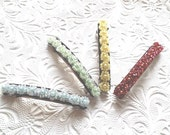 Beaded hair barrette, floral barrette,  ponytail clip, hair accessory, fashion accessory
