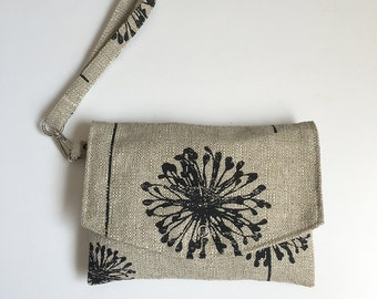 Wallet Pouch // Smartphone Case w/ Removable Strap - Dandelion Black
