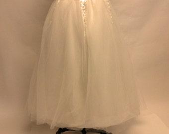 Tattered Ivory Tutu Princess Ballerina Skirt XL