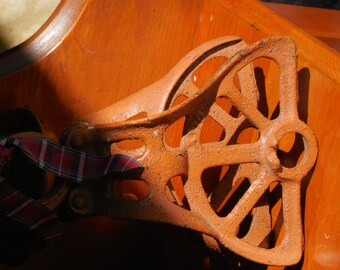Antique Pulley From An Old Barn