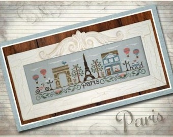 Cross Stitch Pattern, Afternoon in Paris Counted Cross Stitch Pattern, by Country Cottage Needleworks, WI