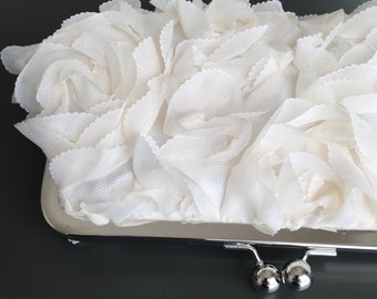 Sale - Rosette Ivory Clutch
