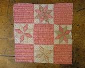 Antique Quilt Piece | Vintage Quilt Piece |  Old Quilt PIece |  Cutter Quilt Piece 11.5  X 11.5