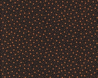 40% OFF SALE Black With Stars And Dots Cotton Material Thimbleberries By RJR Fabrics 30 x 44