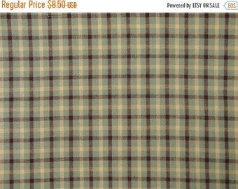 40% OFF SALE MeMe's Blue Bird Garden ME 422 Plaid Homespun Cotton Fabric 54 x 44 Last Piece