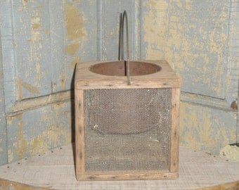 Old Wood Cricket Box | Primitive Cricket Catcher