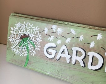 Garden of Weedin Sign Hand-lettered on Reclaimed Barn Wood