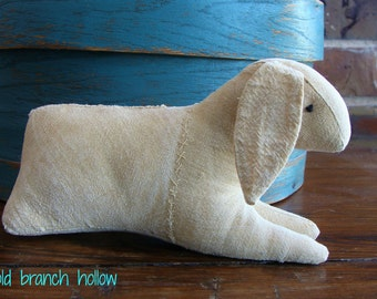 Primitive Feedsack Toy Rabbit