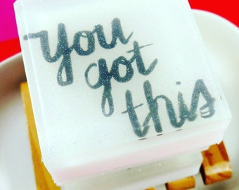Gift for Her. Best Friend. Coworker Gift. Womens Gift. YOU GOT THIS Soap Bar. Breast Cancer Survivor. Inspirational Gifts. Motivation