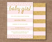 Pink & Gold Glitter Baby ...