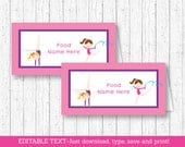 Gymnastics Buffet Cards /...