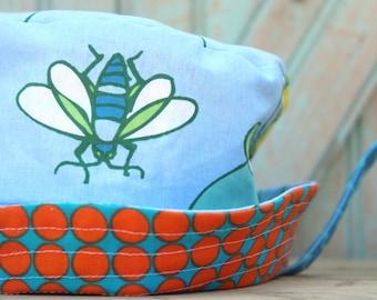 Boys Girls Trick Sun Hat Newborn 6 12 Months 2 3 4 5 Years & Up Reversible Baby Toddler Kids Orange Blue Bug Bucket Hat Modern Summer Style