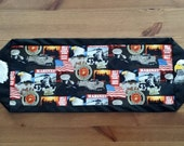 US. Marine Corps Table Center Piece / Table Runner + embroidered eagles, red, white, blue, patriotic, Semper Fidelis, tribute to the troops
