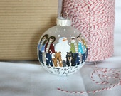 Hand Painted Personaliized Family Ornament