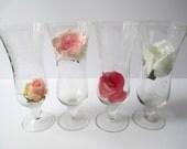 Lovely Vintage Etched Parfait Glasses Set of Four