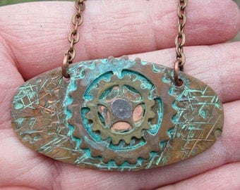 Mixed Metal Steam Punk Necklace