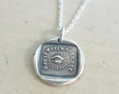 all seeing eye wax seal necklace ... may it watch over you - masonic eye - sterling silver antique wax seal jewelry
