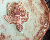 Ceramic Sea Turtle Ring Dish Trinket Dish Decorative Pottery Plate Jewelry Holder
