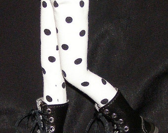 Black And White Polk A Dot Tights For Blythe...One Pair Per Listing...