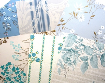 All Blues 8 x 10 VINTAGE WALLPAPER 6 Sheets 1950s 1960s
