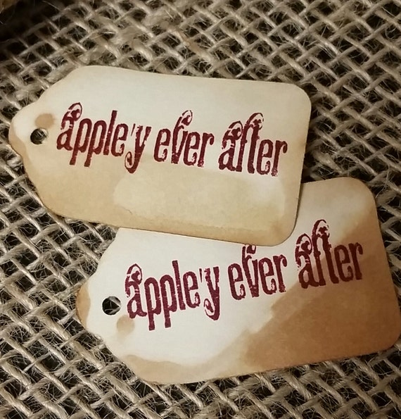 """Appely Ever After SMALL 2"""" Favor Tag  NOT Personalized Choose your Quantity with the drop down box"""