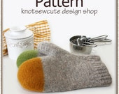 Colour Dipped Felted Oven Mitts - Crochet Pattern (PDF) - INSTANT DOWNLOAD