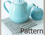 Earl Grey Hot Pad - Tunisian Crochet Pattern (PDF) - INSTANT DOWNLOAD