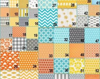 Design your own 3 pcs. SET Custom crib Bedding -Sunshine Aqua