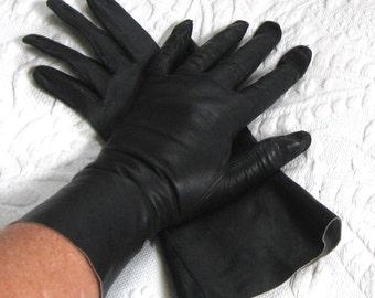 blue leather gloves . driving gloves . Midnight Blue Kid Leather Gloves . Unlined Navy Blue Gloves . navy kid gloves
