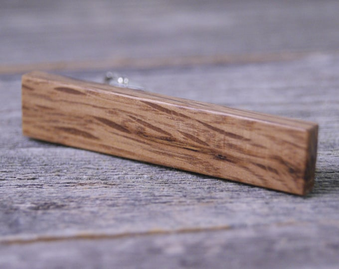 Tie Clip: Colonial Shipyard Wood Tie Bar - Great gift for history lovers!