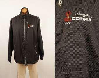 Vintage Ford Mustang Cobra Special Vehicle Team Jacket Sz L